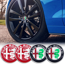 4Pcs 56mm Auto Emblem Wheel Center Hub Cover Sticker For Alfa Romeo 159 147 156 Giulietta 147 Sp Mito Styling Accessories