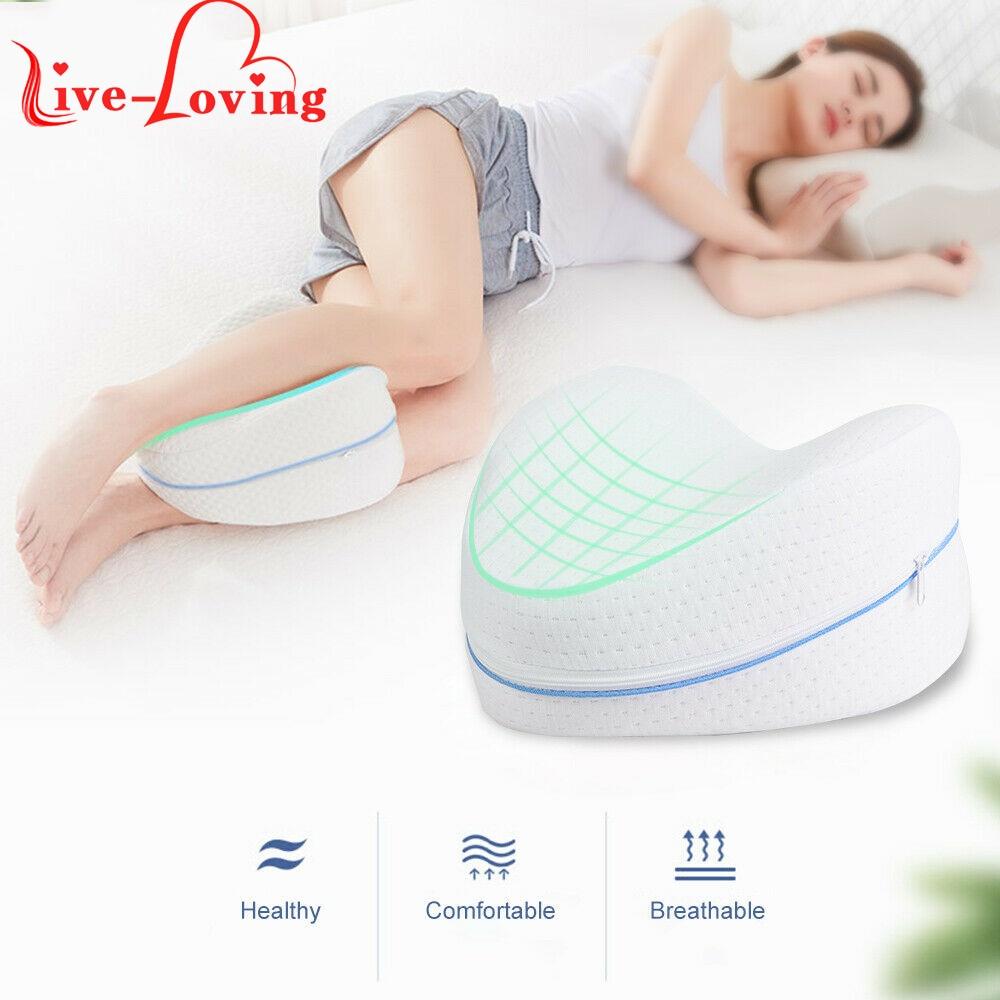 Memória de algodão perna travesseiro para dormir ortopédico ciatica volta hip conjunta alívio da dor coxa perna almofada de espuma de memória em casa