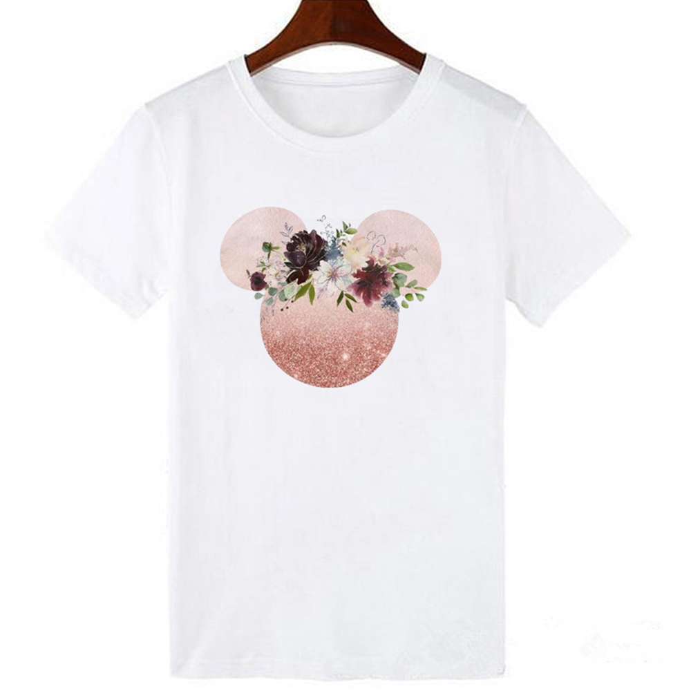 Women Minnie T-Shirt Mouse Micky Ear Shirt Girl Tumblr Tee Hipster Matching T Shirt Cute Holiday Tees