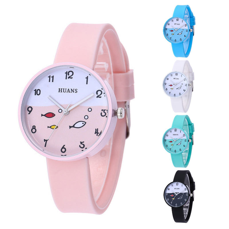 Luxury Children's Watch Silicone Life Waterproof Kids Watches For 3-12 Years Old Use Baby Boys Girls Birthday Party Gift Clock