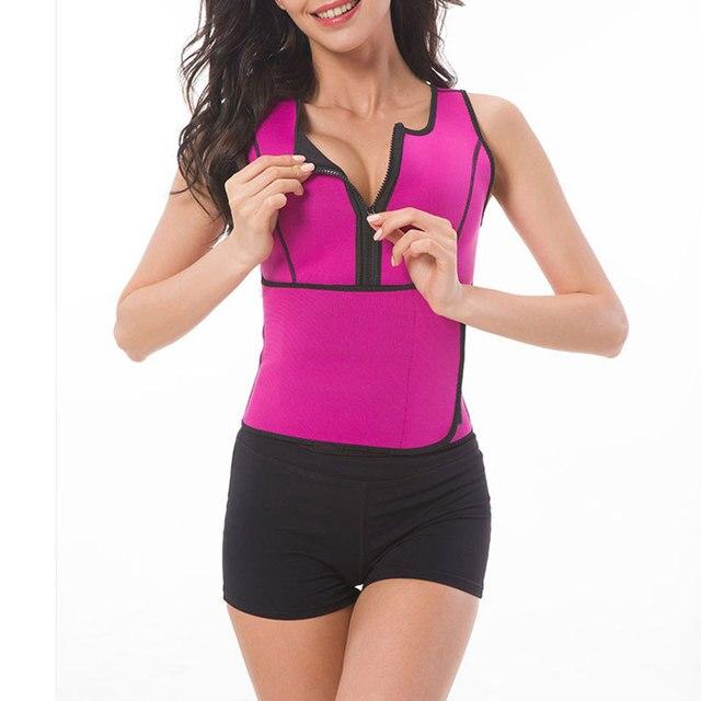 Women Waist Sealing Female Slimming Sheath Corset Belly Sweat Belt With Zipper Fashion Corset Belt Chest Support Body Shaping 4