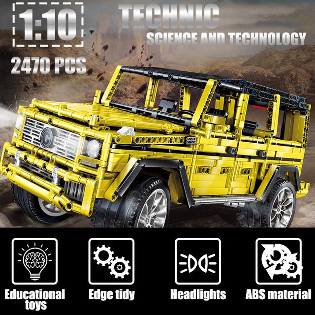 2470pcs City Creator MOC Technic SUV Off-Road Car Model Building Blocks 1:10 Racing Vehicle Bricks Toys for Children Boys