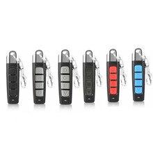 Mais novo 433mhz controle remoto 4 channe garagem portão abridor de porta controle remoto duplicador clone código clonagem chave do carro