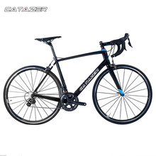 CATAZER 700C Highway Bicycle Tremendous Mild Full T700 Carbon Body Racing Highway Bike Carbon Wheelset 22 Pace Skilled Highway Bike