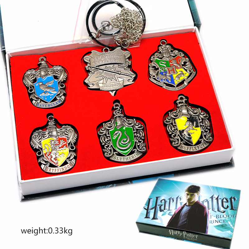 Harri Potter Seal Stamp Vintage Alphabet Wax 3D Metal Badge Seal Sets Hermione Magic Wand Weapon Keychain Necklace Box Toy 9