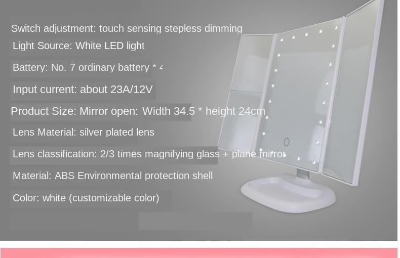 espelhos de mesa espelho de cosméticos presente para menina