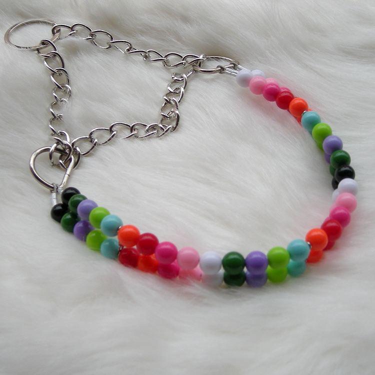 Colorful Acrylic Beads Pet Collar Collar Dog Neck Ring Neck Ring Beaded Bracelet Neck Ring