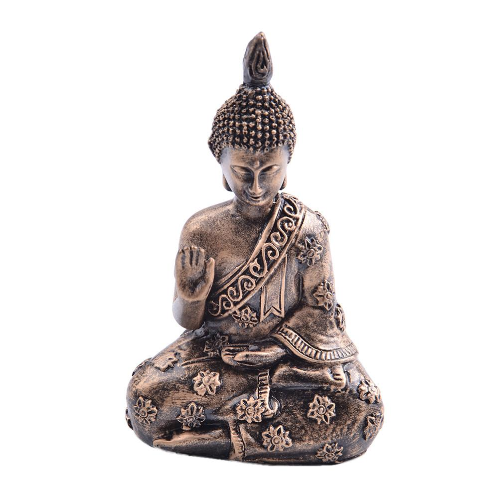 Resin Buddha Statue Resin Garden Buddha Retro Buddha Statue Meditating Buddha Statue Ornament Sakyamuni Figurine Home Decor