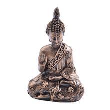 Resin Buddha Statue Garden Retro Meditating Ornament Sakyamuni Figurine Home Decor