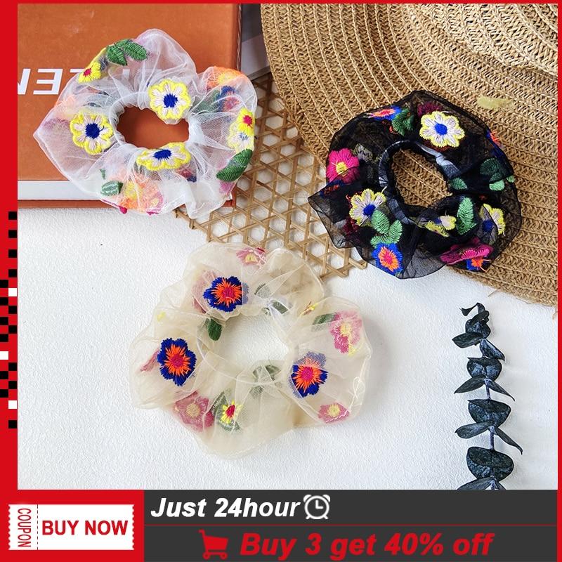 Fashion Strass Cristal Perle cheveux bande corde élastique Ponytail Holder EW