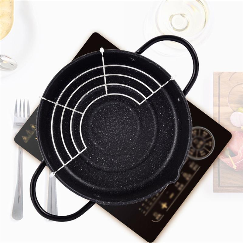 1 шт., железная сковорода, мини Японская сковорода, универсальная маленькая фритюрница, темпура, куриные крылья с фильтром, аксессуары для дома и кухни