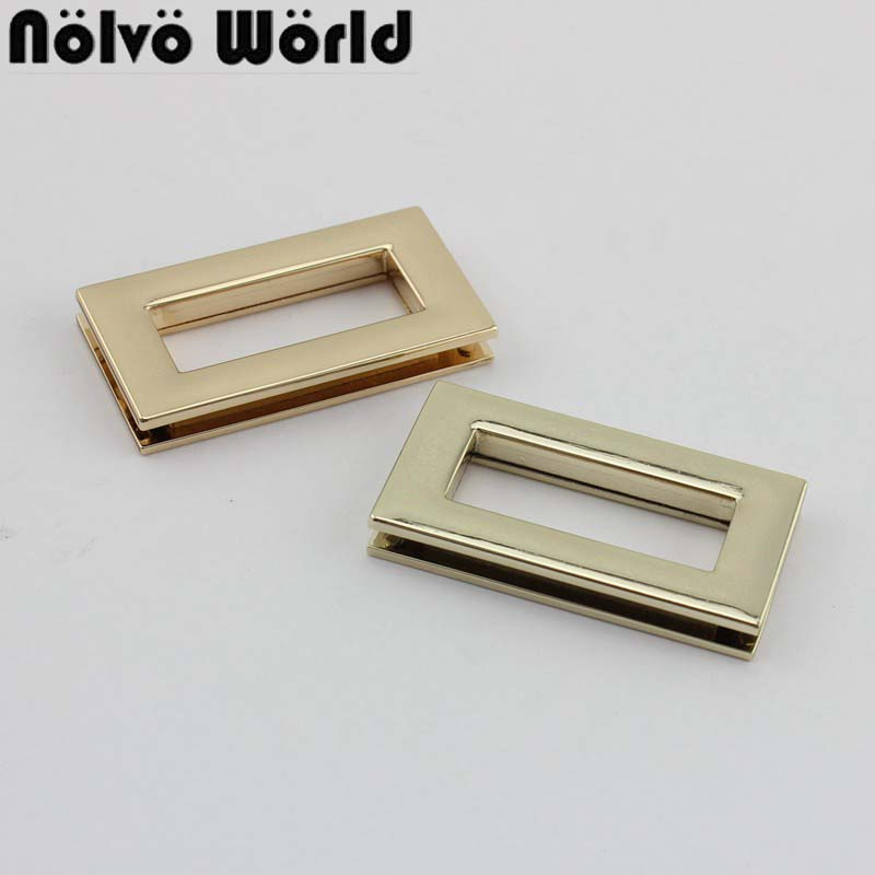 10-50pcs Outside 44X23mm Gold/Light Gold Rectangular Grommet Big Eyelet In Screws For Purse Bags Straps Sewing
