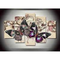5D mozaika diamentowa haftowane motyle czarny pełna plac okrągły diament obraz dżetów