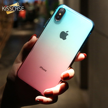 KISSCASE iPhone 11/11 Pro Max X/XS Max XR 커버 용 초박형 그라디언트 폰 케이스 6/6S/7/8 Plus 용 쿨 소프트 TPU 케이스