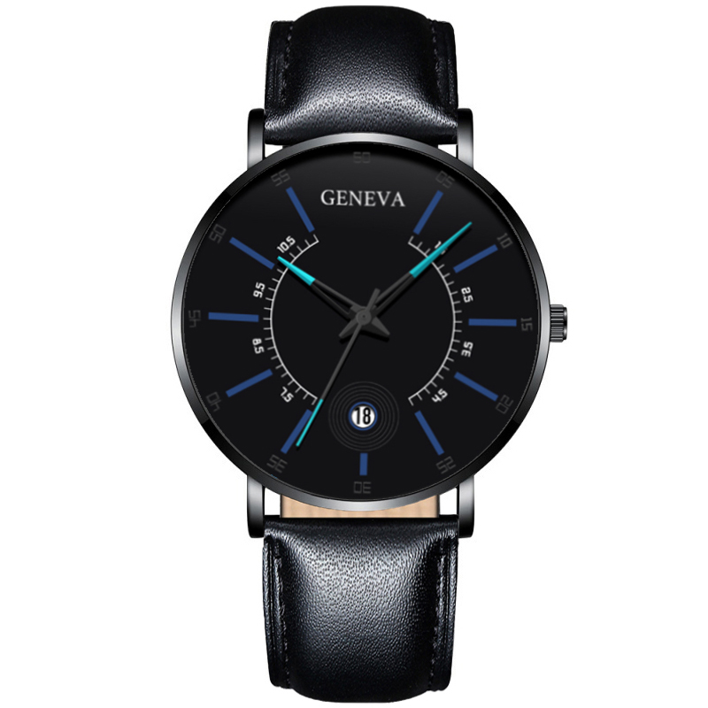 Fashion Mens Business Watches Luxury Stainless Steel Ultra Thin Mesh Belt Quartz Men Wrist Watch Casual Classic Black Male Watch 5