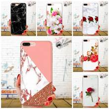 Marble Stone With Rose And Peony Popular For Xiaomi Mi3 Mi4 Mi4C Mi4i Mi5 Mi 5S 5X 6 6X 8 SE Pro Lite A1 Max Mix 2 Note 3 4(China)
