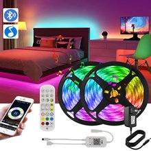Taśma Led Bluetooth RGB 5050 taśma LED inteligentna taśma diodowa 16 milion kolorów girlandy LED Light do dekoracji kuchni w sypialni