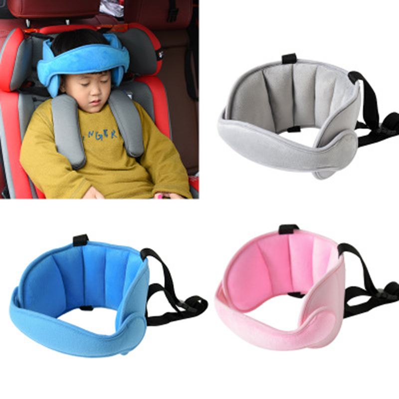Adjustable Baby Car Neck Pillow Kids Safety Car Seat Head Support Fixed Sleeping Pillow Neck Protection Safety Playpen Headrest