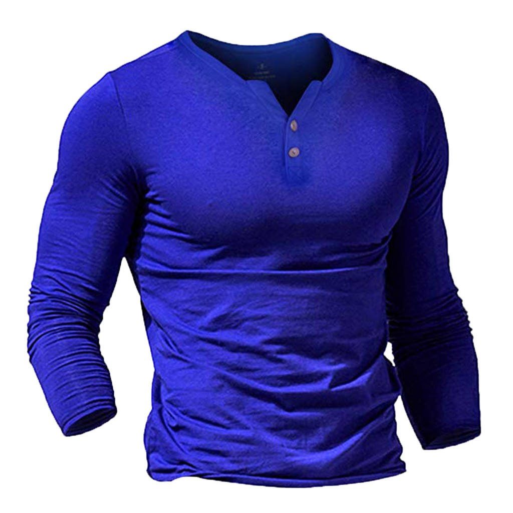 t shirt men long sleeve cotton autumn and winter Men 39 s New Style Fashion Pure Long Sleeve Top Button Long Sleeve Blouse Top in T Shirts from Men 39 s Clothing