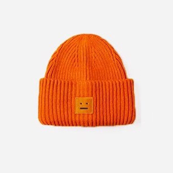 2020 New Acne unisex women's autumn and winter hats Angora100% double layer warm hat Skulies wool hat Warm knitted hat 9