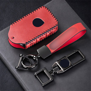 Image 5 - Top Layer Leather Car Remote Key Case Cover For Volvo XC40 XC60 S90 XC90 V90 2017 2018 T5 T6 2015 2016 T8 Keychain Car Styling