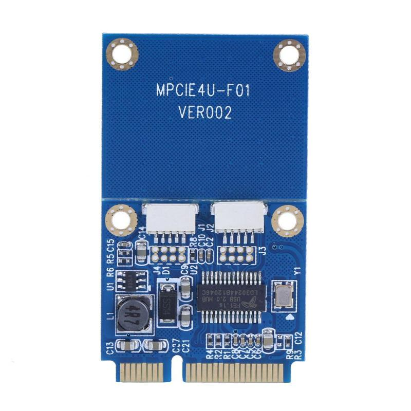 Mini PCI-E To Dual USB Adapter MPCIe To 5 Pin 2 Ports USB2.0 Converter Card