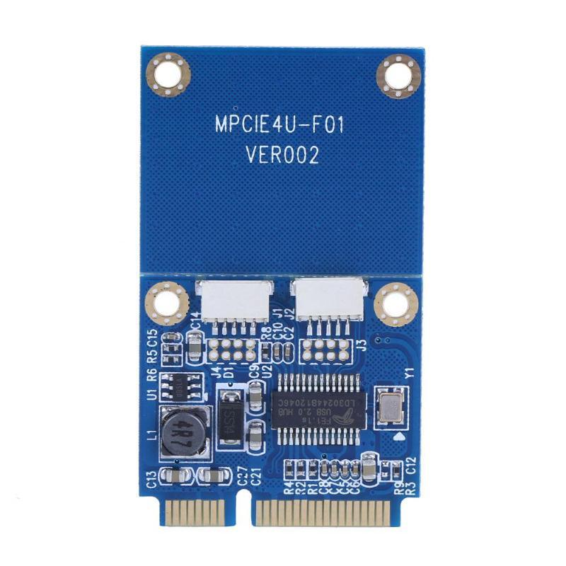 Mini PCI-E To Dual USB Adapter MPCIe To 5 Pin 2 Ports USB2.0 Converter Card
