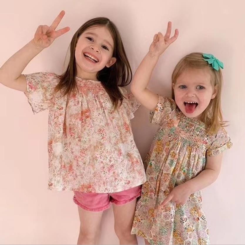 2020 Summer New Baby Girls Casual Dresses Fashion Beach Christmas Print Dress Thanksgiving Princess Dress For Gilrs L102