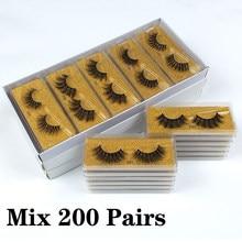 Atacado 3d vison cílios postiços 50/100/150/200 pares macio wispy falso cílios naturais longa extensão do chicote de maquiagem no volume
