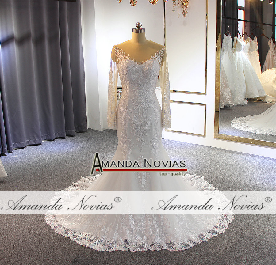 Image 5 - フォーマルドレスの花嫁人魚のレースのウェディングなスカートウェディングドレス   -