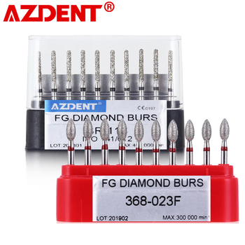 10 pcs/pack Dental High Speed Diamond Burs  Dentist Super Coarse Diamond Dental Lab Tools
