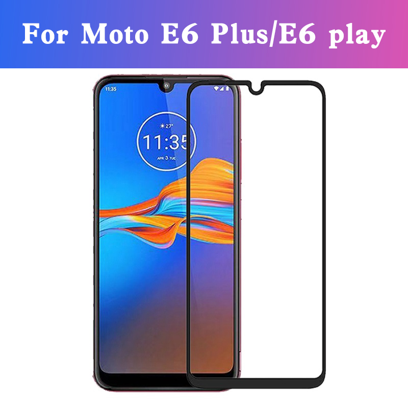 Full Cover Protective Glass For Motorola Moto E6 Plus E6 Play E6 E6plus E6play E 6 E 6 Tempered Glass Screen Protector Film
