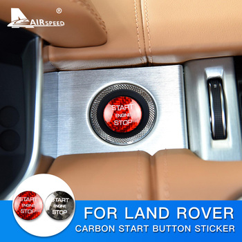 AIRSPEED for LAND ROVER Discovery Sport Range Rover Evoque Velar Carbon Fibe Sticker Engine Start Button Ignition Device Decal 1