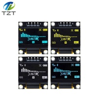 "TZT 0.96 inch IIC Serial White OLED Display Module 128X64 I2C SSD1306 12864 LCD Screen Board GND VCC SCL SDA 0.96"" for Arduino"