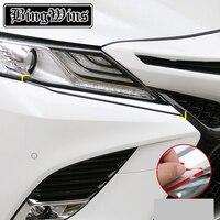 Auto styling Zubehör Für Toyota Camry 2018 2019 Chrom Vorne Augenlid Augenbraue Streifen Abdeckung Trim|Chrom-Styling|   -