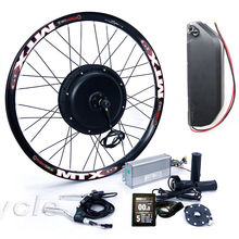 48v 1500w rear wheel electric bike conversion kit with 48v 17ah lithium battery pack