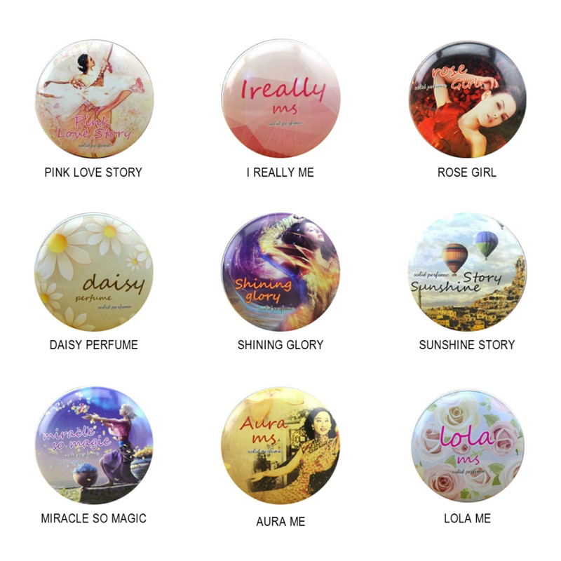 Simple Beautiful Generous Solid Perfume For Men Women 9 Kinds Of Fragrance Alcohol-Free Parties Dates 15g