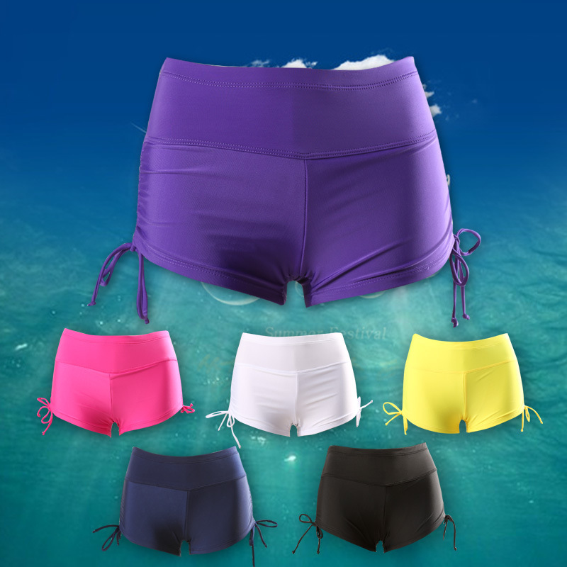 New Style High-waisted Trunks Sexy Women's Loose And Plus-sized Beach Sports Yoga Drawstring Boxers