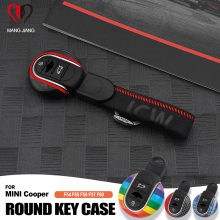 For MINI Cooper Key Case for Car Cover F54 F55 F56 F60 One D S KeyChain Union Jack Bulldog JCW Protecter Car Styling Accessories