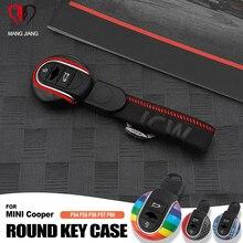 Para mini cooper caso chave para capa de carro f54 f55 f56 f60 um d s chaveiro união jack bulldog jcw protecter estilo do carro acessórios