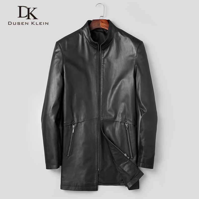 Men Genuine Leather Jacket Real Cow Skin Jackets Casual Black Pockets 2020 Autumn New Jacket For Man T1932