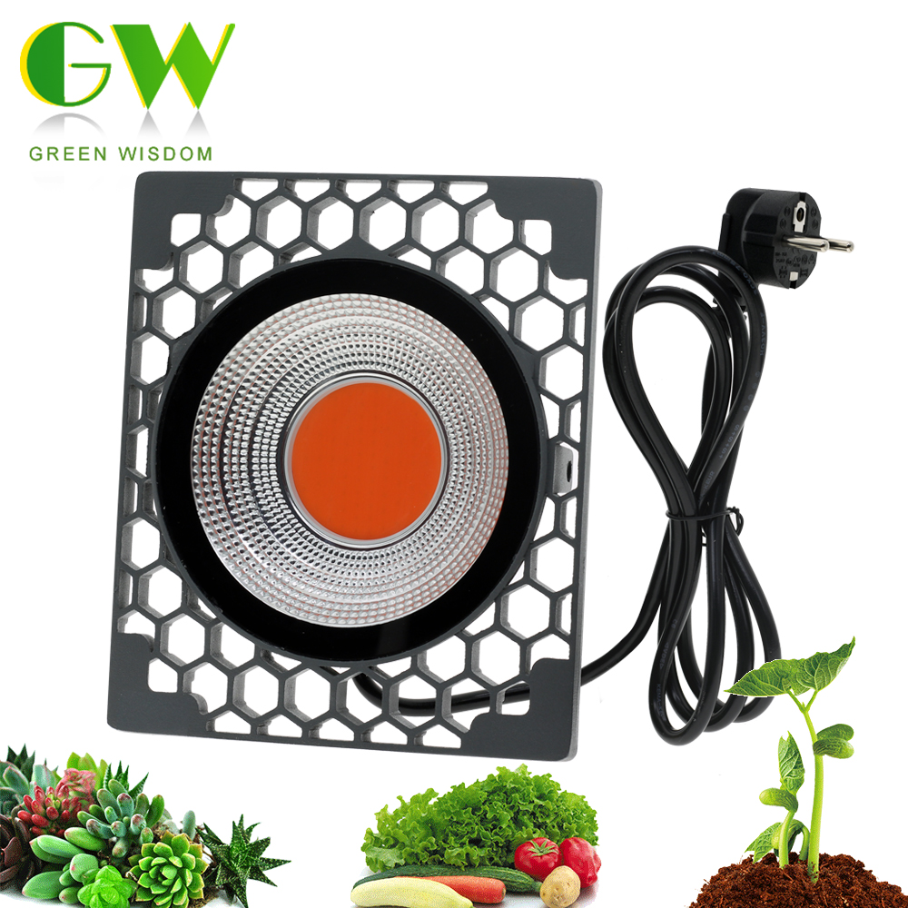 50W LED Grow Light COB Full Spectrum LED Growing Lamp 500W High Luminous Efficiency Phyto Lamps For Plants Grow Tent Greenhouse