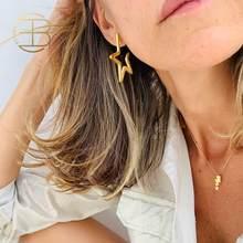 2020 nuovi piccoli orecchini a stella cava per le donne orecchini a bottone in oro pentagramma a forma di stella di moda minimalista