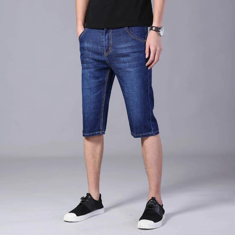 Shorts Mannen Casual Denim Korte Mannen Solid Slim Fit Heren Shorts Blauwe Korte Jeans Mannen Zomer Streetwear Mannen kleding|Korte broek|   - AliExpress