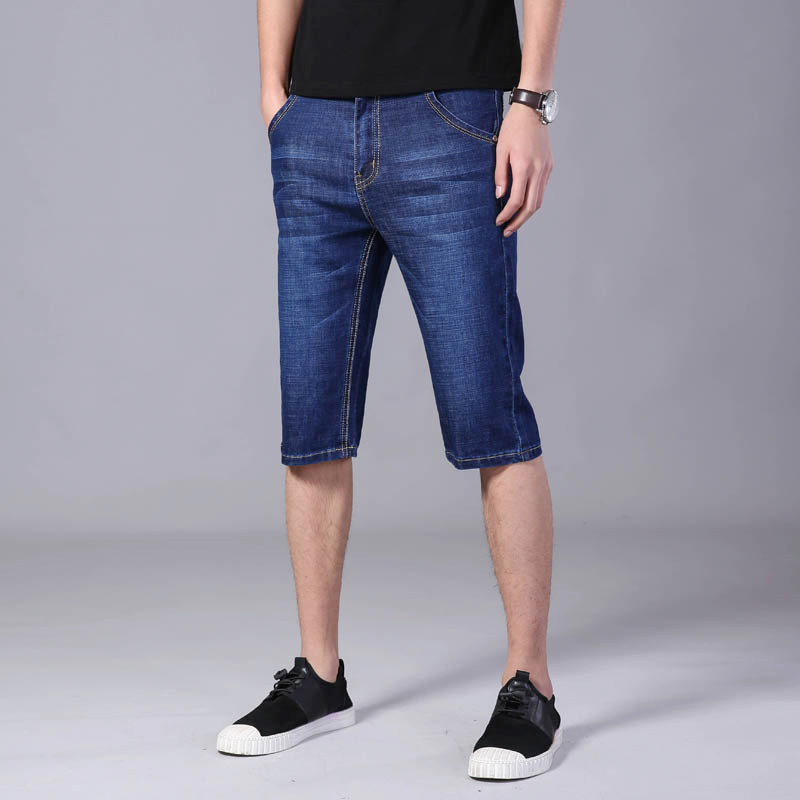 Shorts Men Casual Denim Short Men Solid Slim-Fit Men's Shorts Blue Short Jeans Men Summer Streetwear Men's Clothing
