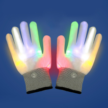 1 Pair LED Gloves  Fiber Optic Flashing Colorful Luminous for Parties Supplies