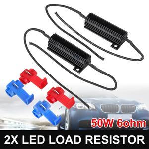 6 sztuk 50W 6ohm żarówka LED włączony kierunkowskaz rezystor obciążenia wolne od błędów do jazdy dziennej światła cofania rezystor obciążenia odporność na naprawić