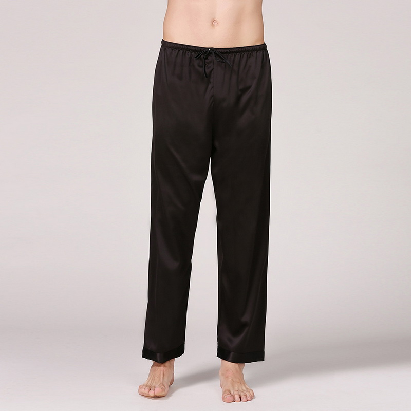MJARTORIA 2020 Casual Men Sleep Bottoms Satin Sleepwear Soft Nightgown Pants Elegant Solid Pajama Pants Male Lounge Night Wear