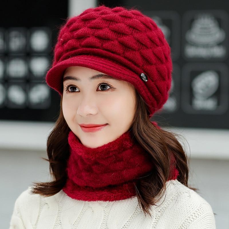 Winter   Beanies   girls Scarf Knitted Hat Caps Mask Gorras Bonnet Warm Baggy Winter Hats For Men Women   Skullies     Beanies   Hats
