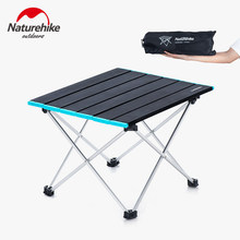 NatureHike superfine quality compact folding camp tables sturdy durable Aluminum Table Top Great for camping picnicking fishing(China)
